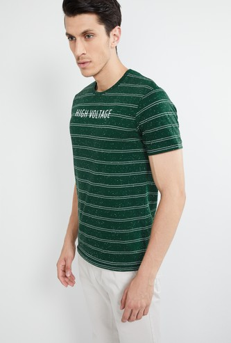 MAX Striped Short Sleeves Slim Fit T-shirt
