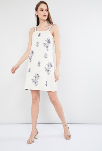 MAX Floral Print Sleeveless A-line Dress