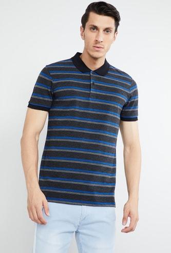 MAX Striped Slim Fit Polo T-shirt