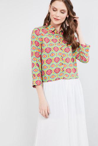 MAX Printed Shirt-style Top