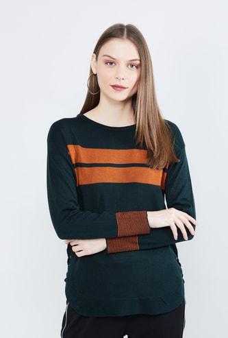 MAX Full Sleeves Drop-Shoulders Sweater