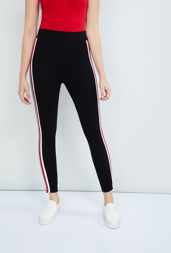 MAX Side Panelled Knitted Treggings