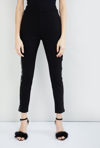 MAX Printed Panelled Slim Fit Treggings