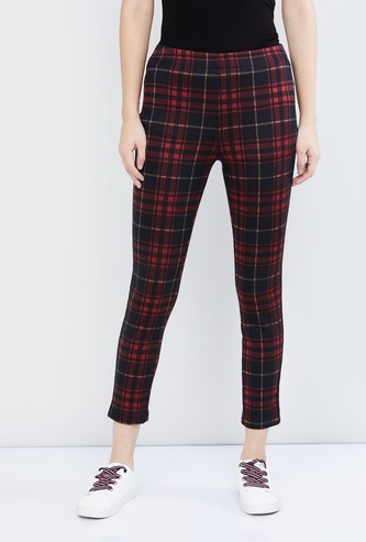 MAX Checked Cropped Treggings