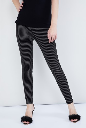 MAX Striped Elasticated Trousers