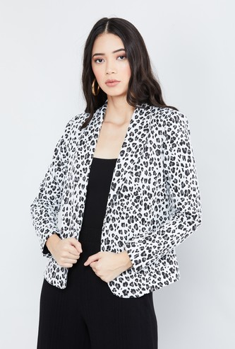 MAX Textured Lapel Collar Jacket