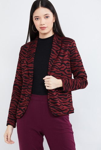 MAX Textured Lapel Collar Jacket