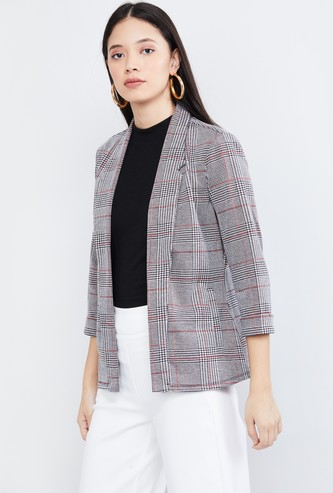 MAX Checked Open-Front Jacket