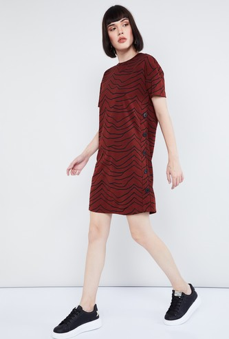 MAX Printed Short Sleeves Dress