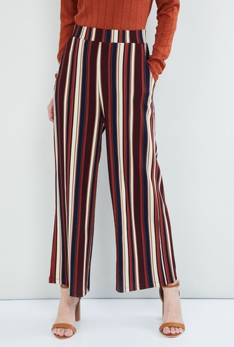 MAX Striped Woven Parallel Pants