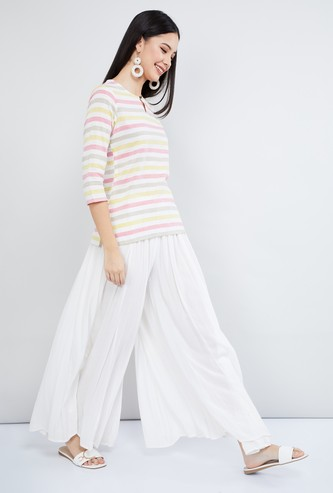 MAX Striped Woven Top