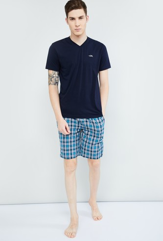 MAX Solid V-neck Lounge T-shirt