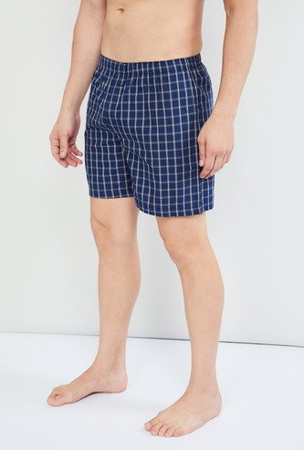 MAX Combed Cotton Checked Boxers