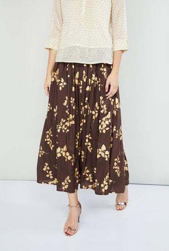MAX Printed Midi Skirt