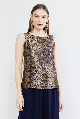 MAX Foil Print Sleeveless Top