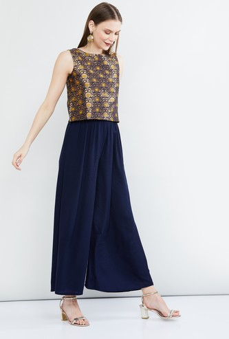 MAX Jacquard Patterned Crop Top