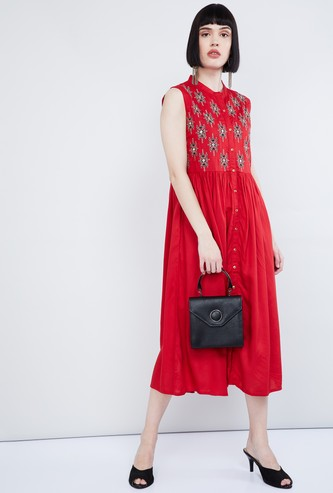 MAX Embroidered Midi Dress