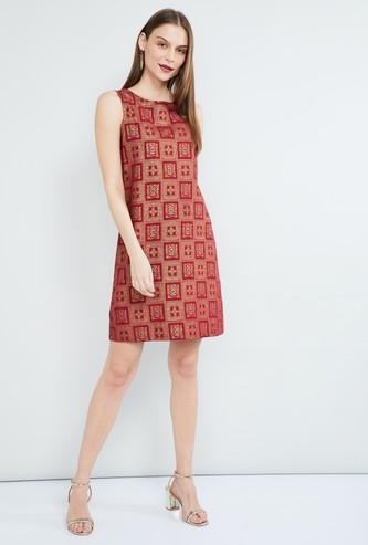 MAX Ethnic Print Sleeveless Dress