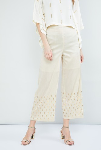 MAX Printed Cropped Parallel Pants