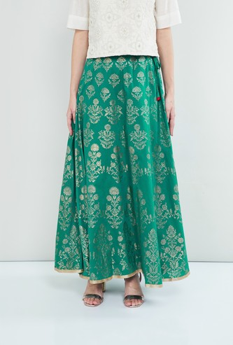 MAX Printed Ethnic Maxi Skirt