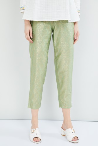 MAX Printed Cropped Ethnic Pants