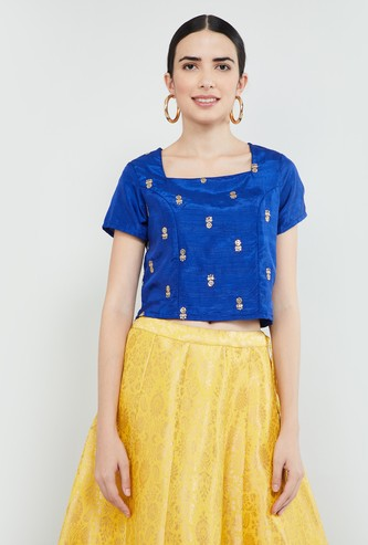 MAX Embroidered Short Sleeves Top