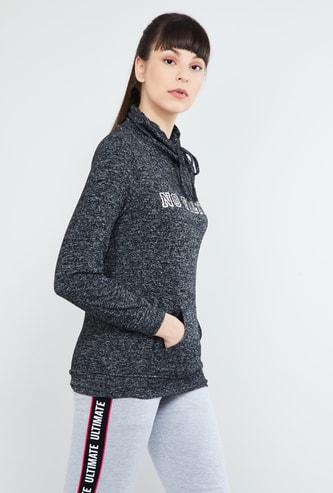 MAX Textured Kangaroo Pocket Sweatshirt