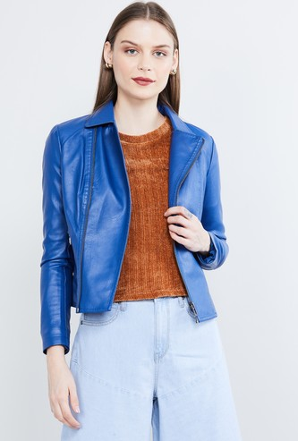 MAX Solid Biker Jacket