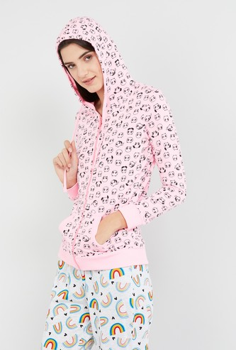 MAX Printed Full Sleeves Hooded Sweatshirt