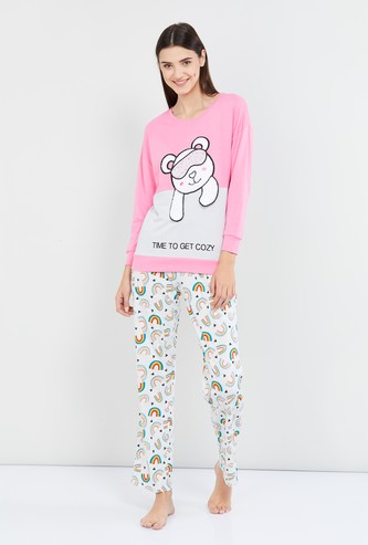 MAX Graphic Print Lounge Sweatshirt