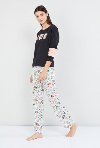MAX Typographic Print Lounge Sweatshirt
