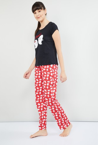 MAX Printed Pyjamas with T-shirt