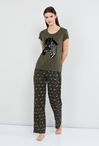 MAX Printed T-shirt and Pyjamas