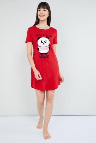 MAX Graphic Printed Night Dress