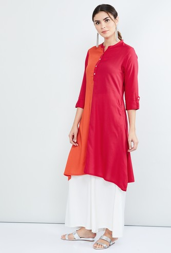 MAX Colourblock Asymmetric Hem Kurta