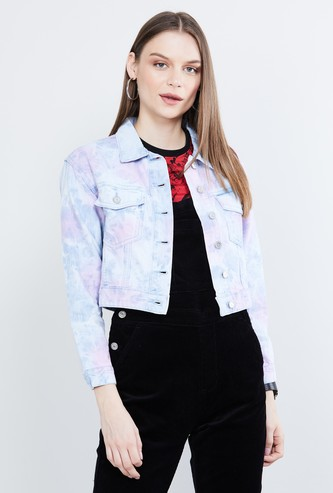 MAX Printed Full Sleeves Denim Jacket