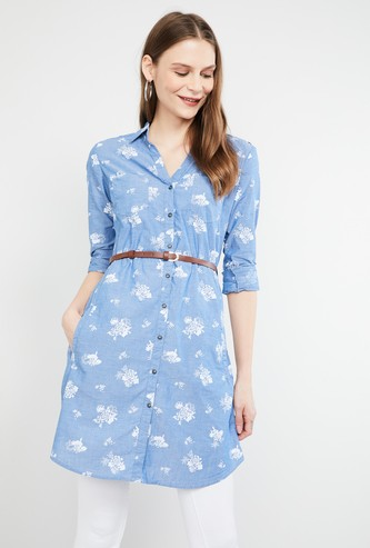 MAX Printed Tunic with Belt