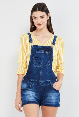 MAX Dark Washed Denim Dungarees