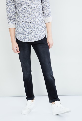 MAX Acid-Wash Slim Fit Jeans