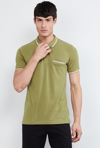 MAX Slim Polo T-shirt with Contrast Tipping