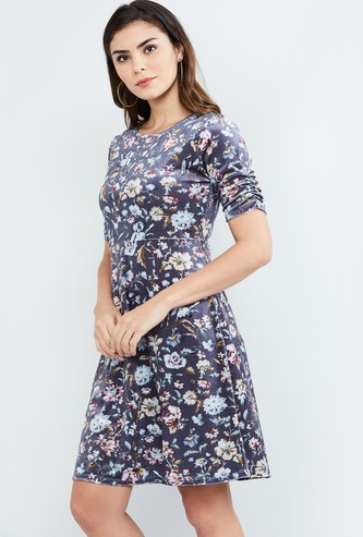 MAX Floral Print Skater Dress