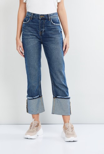 MAX Stonewashed Flared Jeans