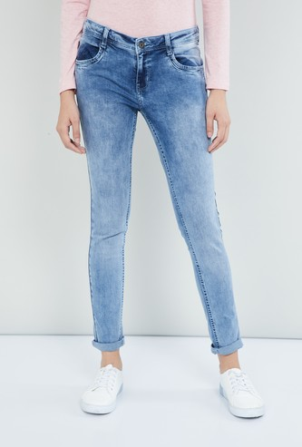 MAX Mid-Washed Skinny Fit Jeans