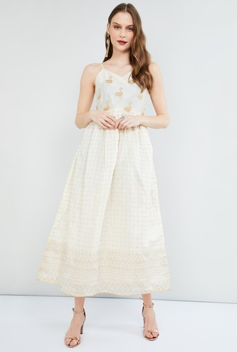 MAX Embroidered Ethnic Maxi Dress