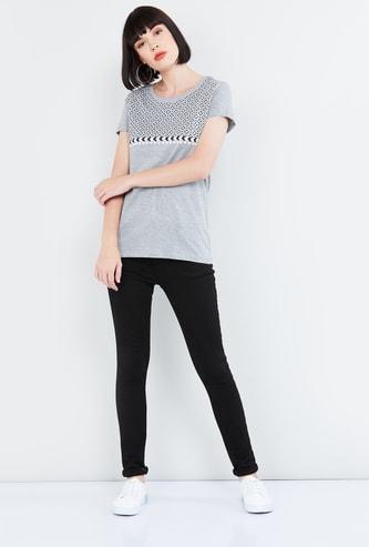 MAX Printed Melange T-shirt