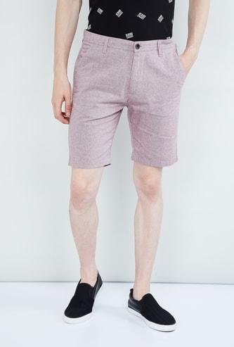 MAX Textured Regular Fit City Shorts