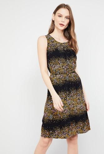 MAX Floral Print Sleeveless Sheath Dress