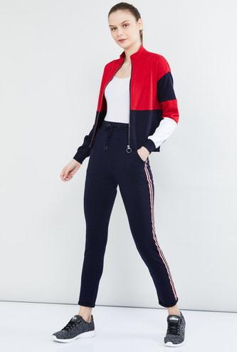 MAX Colourblock Zip-Front Jacket