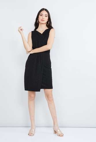 MAX Textured Sleeveless Dress