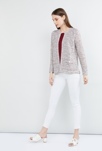 MAX Textured Jacket Layered Cardigan